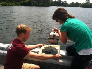 Sampling river sediments