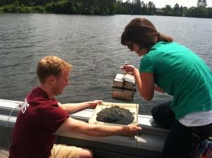 Sampling river sediments